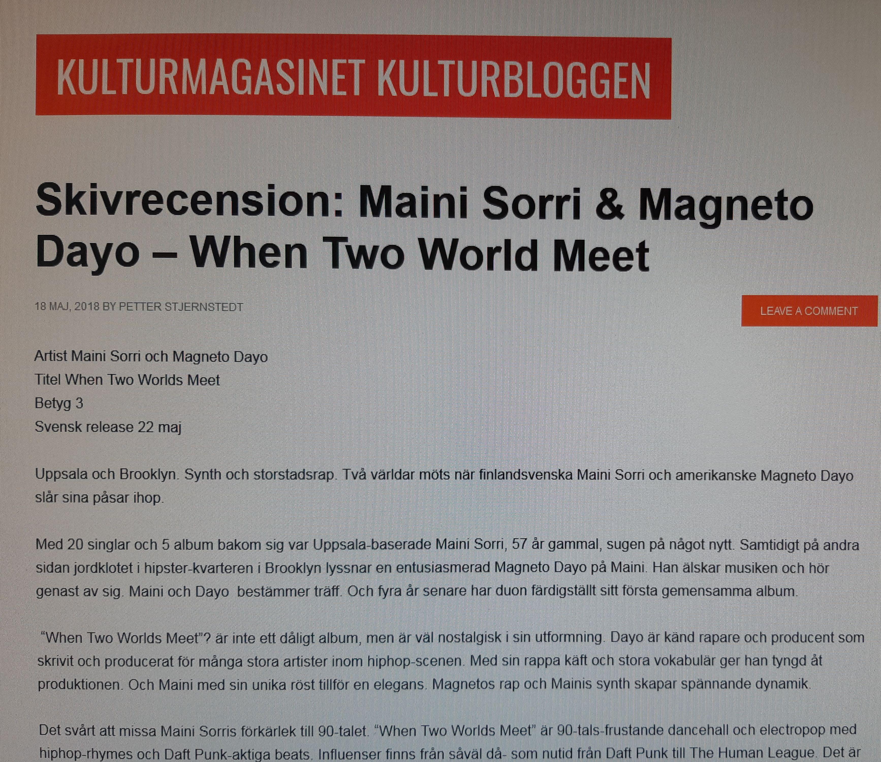 When Two Worlds Meet   Maini Sorri